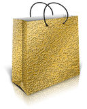 Gold gift bag Royalty Free Stock Photography