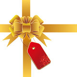 gold gift bow Royalty Free Stock Images