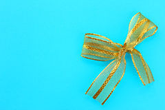 Gold gift bow Stock Photos