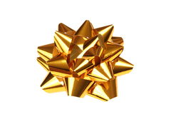 Gold gift bow Royalty Free Stock Photo