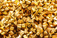 Gold gift bows Royalty Free Stock Photo