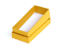 Gold gift box Stock Images