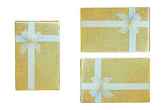 Gold gift box. Stock Image