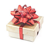 Gold gift box. Stock Images