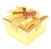 Gold gift box Stock Image