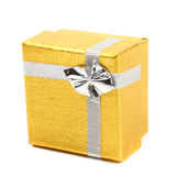 Gold gift box Royalty Free Stock Photos