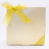 Gold Gift Box royalty free stock images