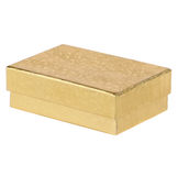 Gold Gift Box Stock Photography