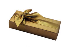 Gold gift box Royalty Free Stock Photo