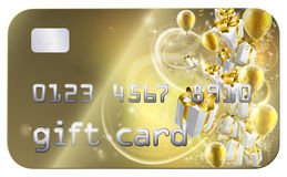 Gold Gift Card Stock Photography