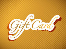 Gold gift card illustration design background Stock Photos