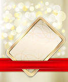 Gold gift card Royalty Free Stock Photography