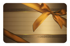 Gold gift card template. Royalty Free Stock Photography