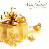 Gold gift Royalty Free Stock Photos