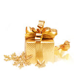 Gold gift Stock Images