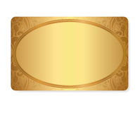 Gold Gift coupon, gift / discount card / ticket te Stock Photo