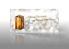 Gold Gift Stock Image