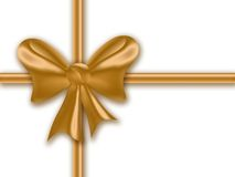 Gold gift ribbon Stock Image