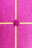 Gold gift ribbon bow Stock Photo