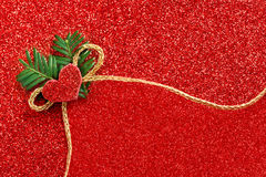 Gold gift ribbon bow Royalty Free Stock Photos