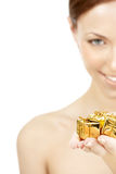 Gold gifts Stock Photography