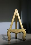 Gold Gilded Easel Stock Photo