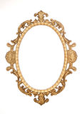 Gold gilt decorative rococo frame. Isolated Royalty Free Stock Photography