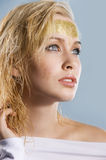 Gold girl Royalty Free Stock Photography