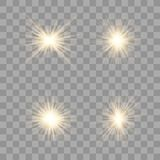 Gold glühen Lichteffekt vektor abbildung