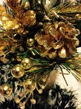 Gold glamour Christmas decoration Stock Images