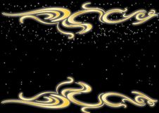 Gold glamour effect with black background stock illustration
