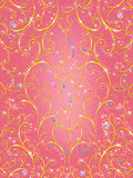 Gold glamour ornament on pink background Royalty Free Stock Photo