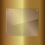 Gold and glass Stock Photos