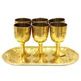 Gold glasses Stock Image