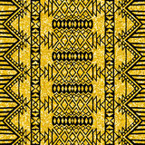 Gold glitter Aztec tribal mexican layout Royalty Free Stock Images