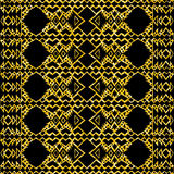 Gold glitter Aztec tribal mexican layout Stock Image