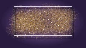 Gold glitter background. Abstract sparkle, sequin texture. Stock Image