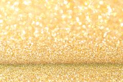 Gold glitter background. Celebration abstract Stock Image