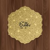 Gold, glitter background with realistic bow. greeting card. Vector illustration. Gold, glitter background with realistic bow. greeting card. Vector eps 10 Stock Image