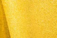 Gold glitter background, selective focus. Shiny golden texture background Stock Photo