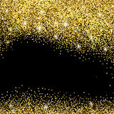 Gold glitter background Stock Image