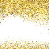 Gold glitter background Stock Photography