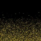 Gold glitter background with sparkles on white background. eps 10 royalty free illustration
