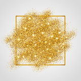 Gold glitter background sparkles Royalty Free Stock Image