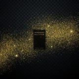 Gold glitter background star dust shiny sparkles. Vector royalty free illustration