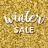 Gold glitter background with and text Sale Stock Photography