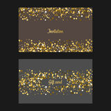 Gold glitter background. Royalty Free Stock Image