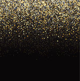 Gold glitter black background. Vector luxury black background with gold sparklers Royalty Free Stock Image