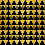 Gold glitter black triangles Stock Image