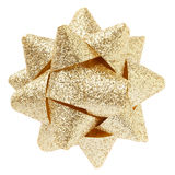 Gold glitter bow Royalty Free Stock Photos